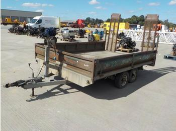 Twin Axle Drop Side Plant Trailer, Winch, Ramps - Pritsche Anhänger