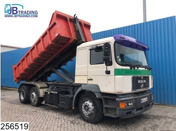 Abrollkipper MAN 26 403 6x2, EURO 2, Marrel Hook container systeem With Container, Tipper, Retarder, Airco