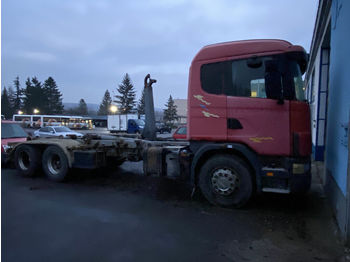SCANIA R124, 6x2, 1999, damaged gearbox - Abrollkipper