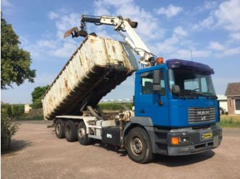 MAN 35.414 18 t/m Crane, Manual, tipper, container - Kipper