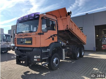 MAN TGA 26.350 Day Cab, Euro 3, Full Steel, Meiller, 3 side tipper, 6X6 - Kipper