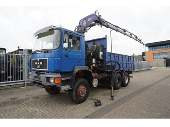 LKW MAN 33.372 6X6 OPEN BOX TRUCK WITH PM 25 CRANE