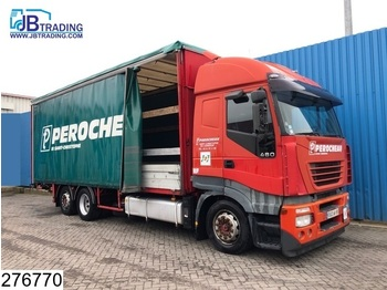 Iveco Stralis 480 6x2, Manual, Retarder, Airco, Analoge tachograaf, Roof height is adjustable, Borden - Plane LKW