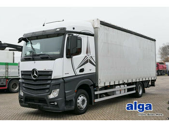 Mercedes-Benz 1836 L Actros, 7.800mm lang, gardine, LBW 1,5to.  - Plane LKW