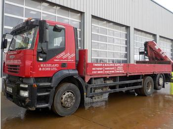 Iveco 6x2 Rear Lift Dropside Lorry, HMF 1560 Crane - Pritsche LKW