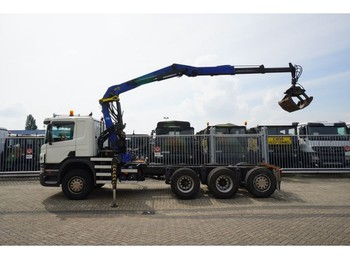 Scania P 380 8X4 CHASSIS WITH PALFINGER E-165 Z 76 CRANE - LKW