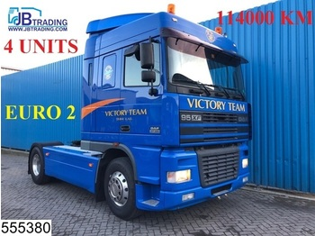 DAF 95 XF 480 EURO 2, Originale KM, Manual, Airco, 4 UNITS, Analoge tachograaf - Sattelzugmaschine